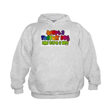 Adopt Shelter Dog (Rainbow) Kids Hoodie