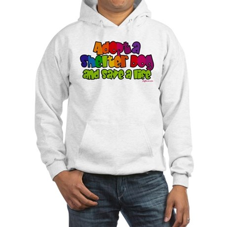 Adopt Shelter Dog (Rainbow) Hooded Sweatshirt