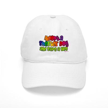 Adopt Shelter Dog (Rainbow) Cap