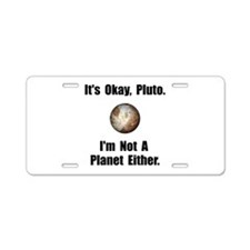 Pluto Planet Aluminum License Plate