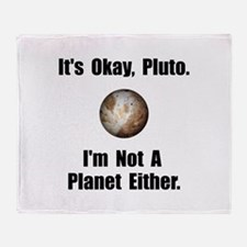 Pluto Planet Throw Blanket