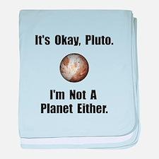 Pluto Planet baby blanket