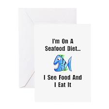 Seafood Diet Greeting Card