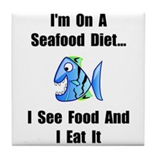Seafood Diet Tile Coaster