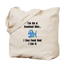 Seafood Diet Tote Bag