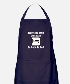 Today Cancelled Apron (dark)