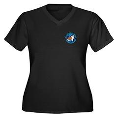 Sheltie Nation Women's Plus Size V-Neck Dark T-Shi
