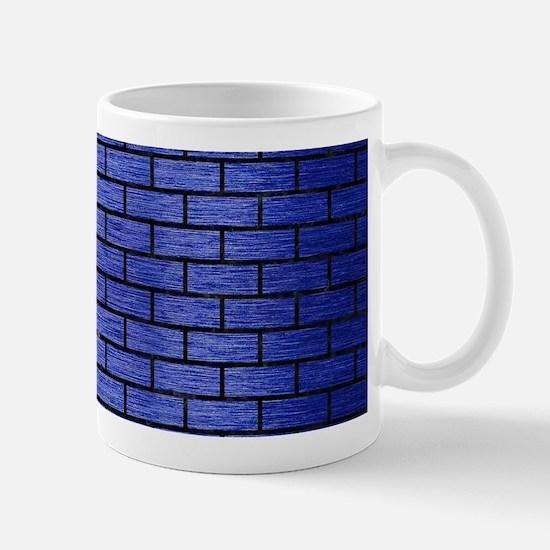 BRICK1 BLACK MARBLE & BLUE BRUSH Mug