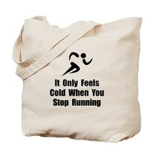 Cold Running Tote Bag