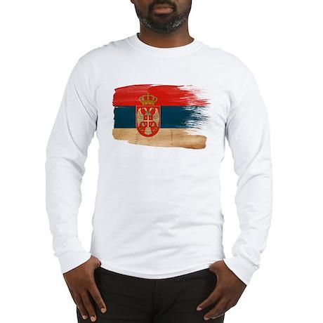 Serbia Flag Long Sleeve T-Shirt