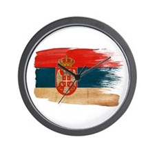 Serbia Flag Wall Clock