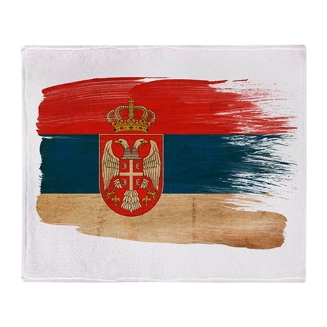Serbia Flag Throw Blanket