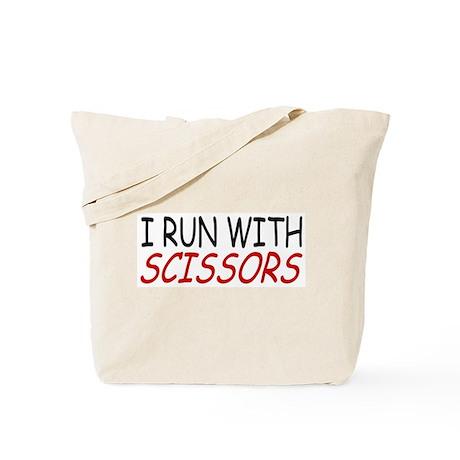 """I Run With Scissors"" Tote Bag"