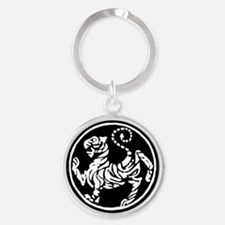 Funny Shotokan tiger Round Keychain