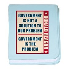 Government Is The Problem baby blanket