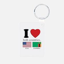 USA-ZAMBIA Keychains
