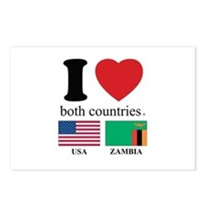 USA-ZAMBIA Postcards (Package of 8)