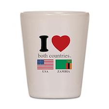 USA-ZAMBIA Shot Glass