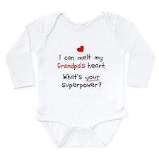 Melt Grandpa's Heart Long Sleeve Infant Bodysuit
