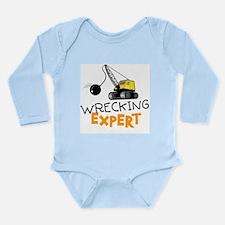 Wrecking Expert Long Sleeve Infant Bodysuit