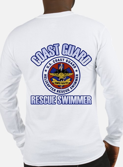 2-Sided Rescue Swimmer Long Sleeve T-Shirt