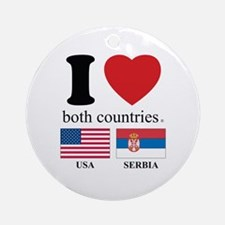 USA-SERBIA Ornament (Round)