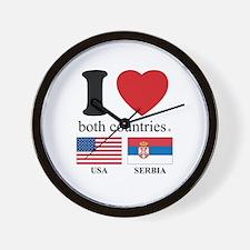 USA-SERBIA Wall Clock