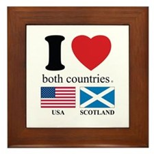 USA-SCOTLAND Framed Tile