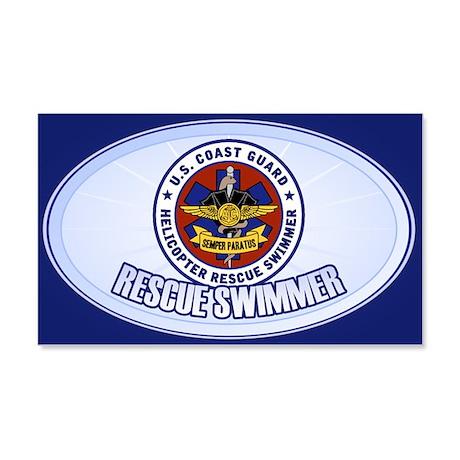Rescue Swimmer 22x14 Wall Peel