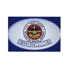 Rescue Swimmer Rectangle Magnet