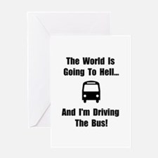 Bus To Hell Greeting Card