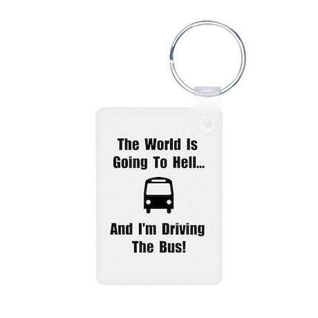 Bus To Hell Aluminum Photo Keychain