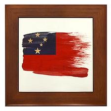 Samoa Flag Framed Tile