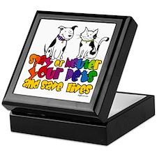 Spay Neuter Rainbow Keepsake Box