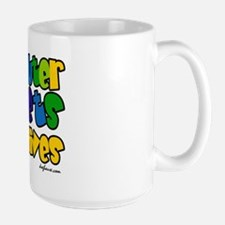 Spay Neuter Rainbow Large Mug
