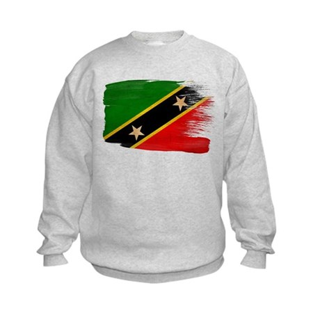 Saint Kitts Nevis Flag Kids Sweatshirt