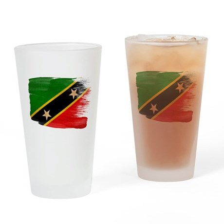 Saint Kitts Nevis Flag Drinking Glass
