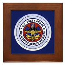 Rescue Swimmer Framed Tile