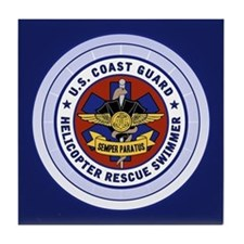 Rescue Swimmer Tile Coaster