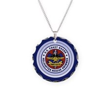 Rescue Swimmer Necklace Circle Charm
