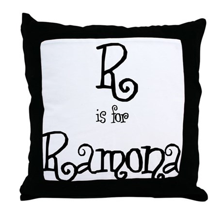 R Is For Ramona Throw Pillow