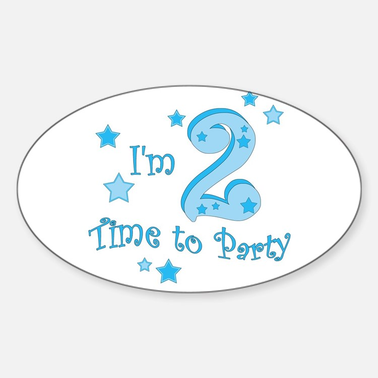 Second / 2nd birthday toddler boy Oval Decal