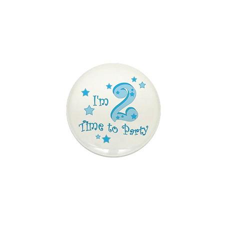 Second / 2nd birthday toddler boy Mini Button
