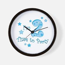 Second / 2nd birthday toddler boy Wall Clock