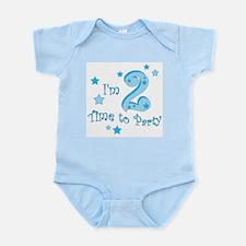 Second / 2nd birthday toddler blue boy creeper