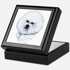 Bichon Frise Dog Portrait Keepsake Box