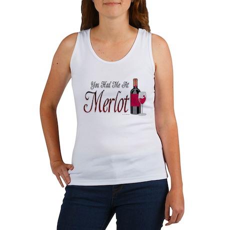 You Had Me At Merlot Women's Tank Top