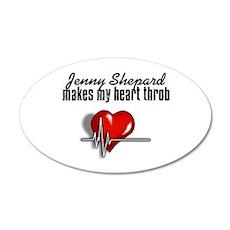 Jenny makes my heart throb 22x14 Oval Wall Peel