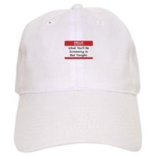 Hello My Name Is In Bed Baseball Cap