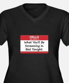 Hello My Name Is In Bed Women's Plus Size V-Neck D